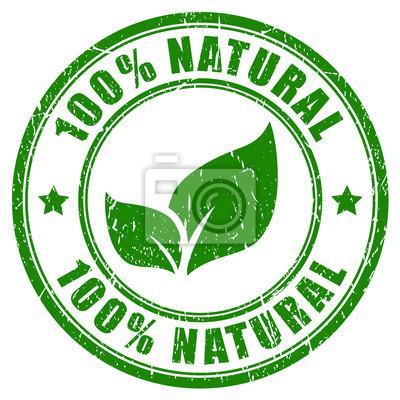 Fototapeta 100 procentach naturalne pieczęć
