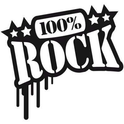 Fototapeta 100% rock Tekst Graffiti design
