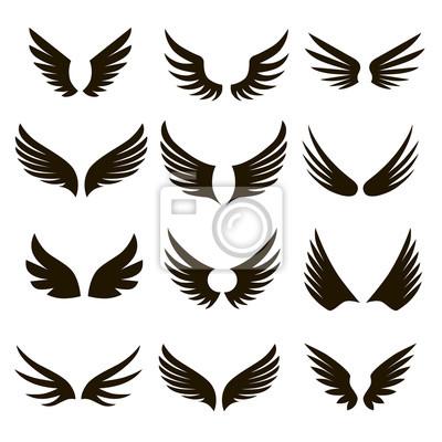 Fototapeta 12 czarno-białych skrzydełek