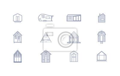 Fototapeta 12 ikon małego domu