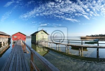 Fototapeta 2 Bootshäuser