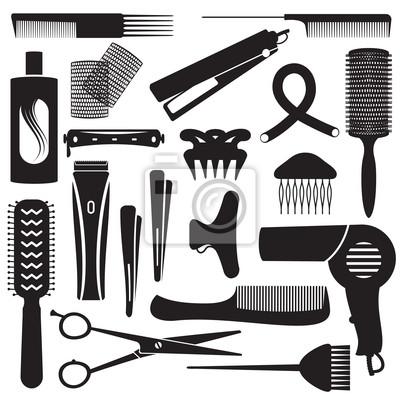 2 symbole związane fryzjerskich