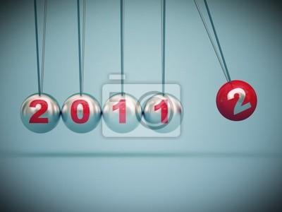 Fototapeta 2012 nowy rok