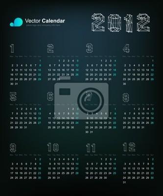 2012 Origami Smok z kalendarza