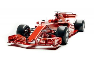Fototapeta 3d f1 samochód wyścigowy odpłaca się