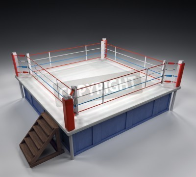 Fototapeta 3D generowane profesjonalny ring bokserski
