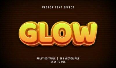 Fototapeta 3D Glow Text effect, Editable Text Style