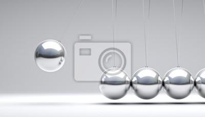 Fototapeta 3d newton kołyski