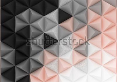 Fototapeta 3d odpłacają się trójboka tło w pastelowych gradientowych kolorach. Papierowe kształty piramid w realistycznej kompozycji. Geometryczna abstrakcjonistyczna ilustracja.