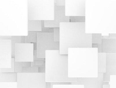 Fototapeta 3D puste tło wzór kwadratów