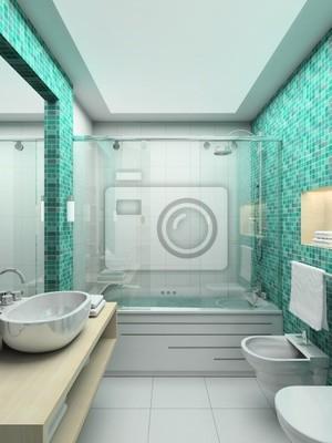 Fototapeta 3d Render Nowoczesne Wnętrza łazienek Na Wymiar
