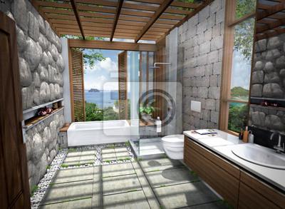 3d Render Nowoczesnej łazienki Fototapety Redro