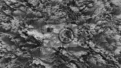 Fototapeta 3d render streszczenie planety powierzchni o wysokim szczegółowe ulgi wykonane z hałasem przemieszczenia