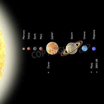Fototapeta 3d render układu słonecznego
