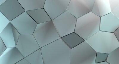 Fototapeta 3D Rendering Abstrakcyjnych Kształtów Low Poly Tle