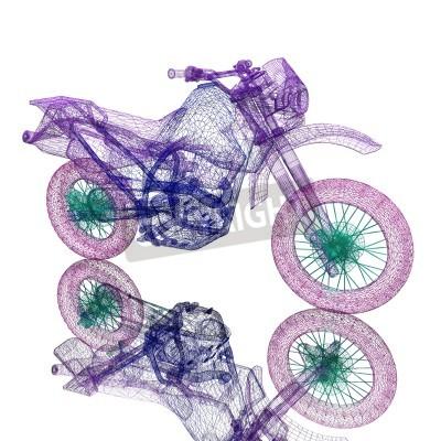 Fototapeta 3d rower motocross sportu