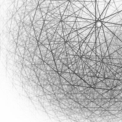 Fototapeta 3d sferyczne struktury czerni i bieli