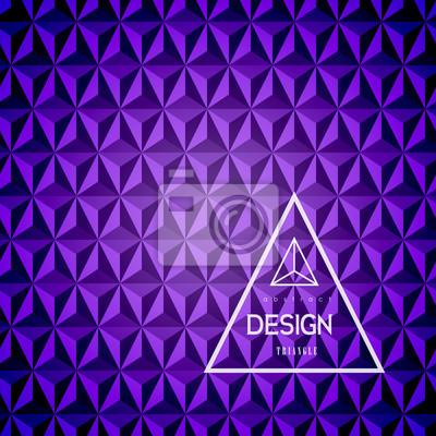 3D streszczenie trójk? T tle. Streszczenie piramidy fioletowe. Ilustracji wektorowych.