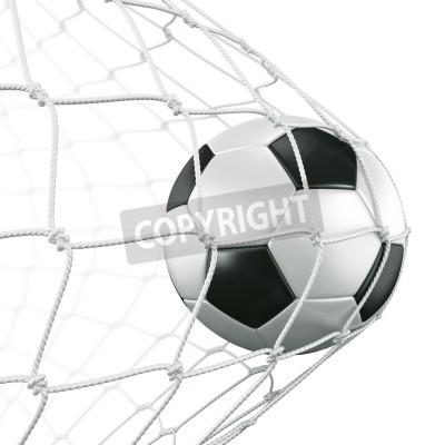 Fototapeta 3d świadczenia piłki nożnej w sieci