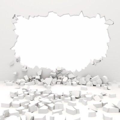 Fototapeta 3d zniszczenie ściany