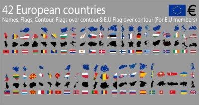 Fototapeta 42 kraje europejskie