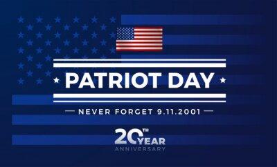 Fototapeta 911 USA September 11, 2001 - Patriot Day USA 20 Years anniversary. Vector conceptual illustration