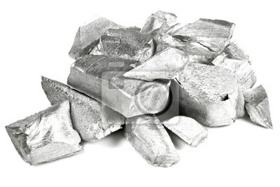Fototapeta 99.99% fine aluminum isolated on white background