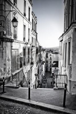 Fototapeta A little street in Montmartre  Paris, France