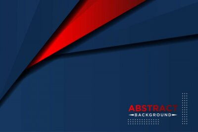 Fototapeta abstract 3d dark blue background with a combination of luminous red overlap style graphic design element