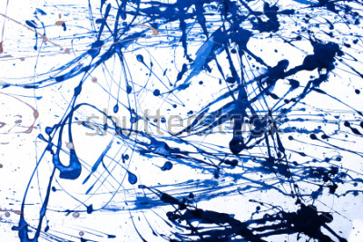 Fototapeta Abstract art creative background. Hand painted background.