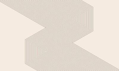 Fototapeta abstract art lines background. monochrome stripes