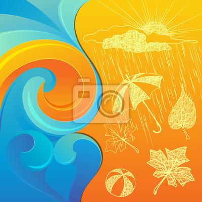 Abstract Background Wiry i jesienna pogoda Clip-art