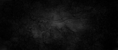 Fototapeta Abstract black grunge watercolor background with dark gray shades on grainy paper. Illustration in gradient watercolor style.