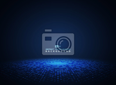 Fototapeta Abstract blue halftone circle futuristic background. illustration vector eps10