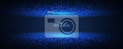 Fototapeta Abstract blue halftone circle futuristic. vector eps10