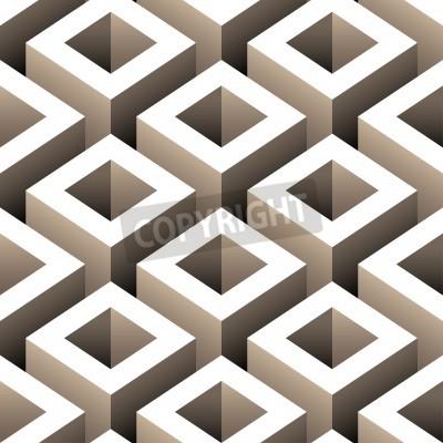 Fototapeta abstract boxes 3d seamless pattern