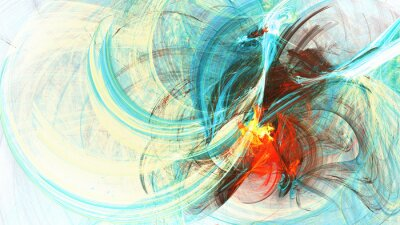 Abstract bright color motion composition. Modern futuristic dynamic background with lighting effect. Artistic painting texture. Fractal artwork for creative graphic design