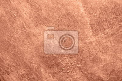 Fototapeta Abstract brushed copper surface metallic texture. Retro background