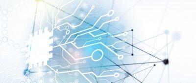 Fototapeta Abstract circuit board futuristic technology processing background