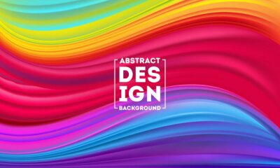 Fototapeta Abstract Colorful Flow poster designs template, Dynamic Color Flow vector, color mesh background, Art design for your design project. Vector illustration EPS10