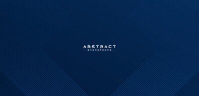 Fototapeta Abstract dark blue background with line stripes. Modern simple geometric line stripes design. Minimal style gradient lines graphic element. Suit for cover, poster, website, brochure, banner, flyer