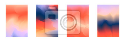 Fototapeta Abstract deep red and blue vibrant gradient colors backgrounds for fashion flyer, brochure design. Set of soft, bright gradiented wallpaper for mobile apps, ui design, banner, poster
