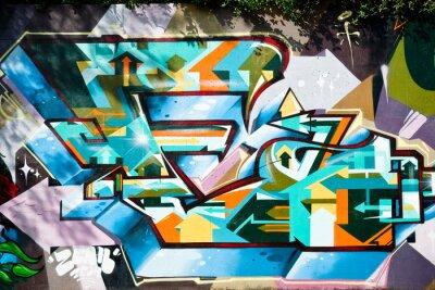 Fototapeta Abstract detail Graffiti na ścianie z teksturą