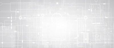 Fototapeta abstract futuristic circuit computer internet technology board business dark background