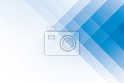 Fototapeta Abstract geometric blue and white color background. Vector, illustration.
