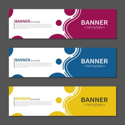 Fototapeta Abstract geometric design banner web template. Vector liquid shape layout banners. Template ready for use in web or print design.