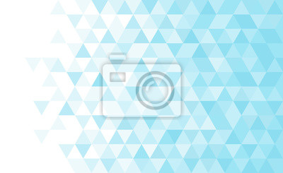 Abstract geometric low poly background. Vector blue triangular mosaic pattern.