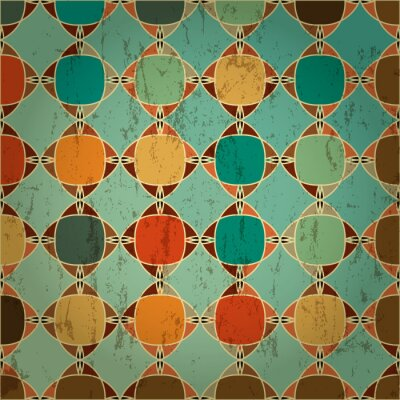Fototapeta abstract geometric pattern background, retro/vintage style, with
