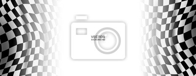 Fototapeta Abstract . geometric square paper white background ,light and shadow . Vector.