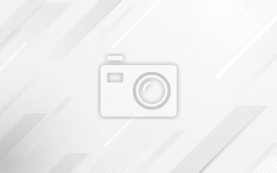 Fototapeta Abstract geometric white and gray color elegant background. vector illustration